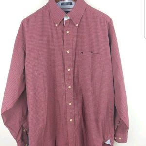 Tommy Hilfiger large button down dress shirt red